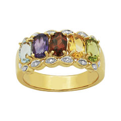 Multi-Gemstone and Diamond-Accent Ring