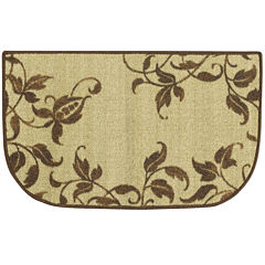 Vines of Spring Scroll Wedge Rug