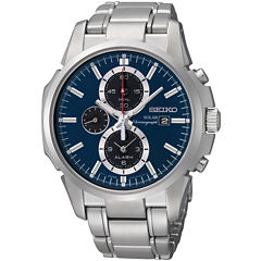 Seiko® Silver-Tone Bracelet Watch SSC085