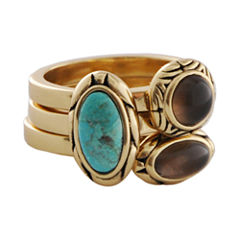 Art Smith by BARSE Turquoise & Smoky Quartz Stack Ring