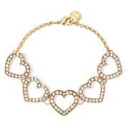 Monet® Crystal Heart Flex Bracelet