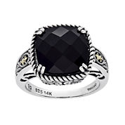 Shey Couture Genuine Onyx Sterling Silver Ring