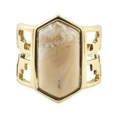 Art Smith by BARSE Lab-Created African Opal Brass Ring