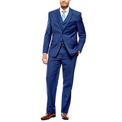 Collection by Michael Strahan Blue Herringbone Suit- Classic Fit