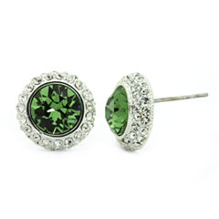 Sparkle Allure Green Crystal Stud Earrings