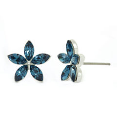 Sparkle Allure Blue Crystal Stud Earrings