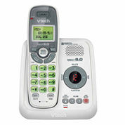VTech CS6124 DECT 6.0 Cordless Answering System with Caller ID/Call Waiting - White