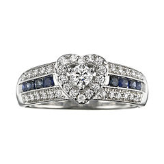 I Said Yes™ 3/8 CT. T.W. Certified Diamond & Sapphire Ring