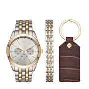 Fashion Watches Mens Two-Tone Watch Boxed Set
