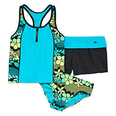 Zero Xposure Girls Leaf Tankini Set Plus - Big Kid