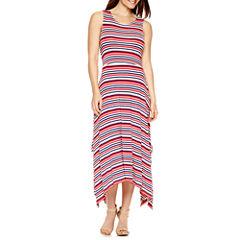 By Artisan Sleeveless Striped Maxi Dress