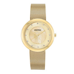 Armitron® Womens Gold-Tone Mesh Bracelet Watch
