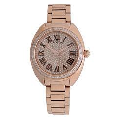 Croton Womens Rose Goldtone Bracelet Watch-Cn207564rgpv