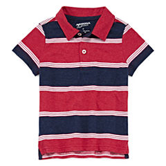 Arizona Short Sleeve Stripe Pique Polo Shirt - Toddler Boys