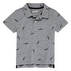 Arizona Short Sleeve Animal Jersey Polo Shirt - Toddler Boys