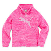 Puma Girls Hoodie Spacedye Zip Jacket-Preschool
