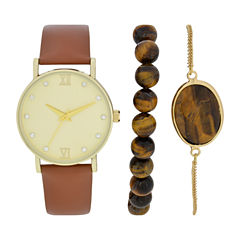 Womens Brown Watch Boxed Set-Wac5270jc