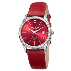 Akribos XXIV Womens Silver Tone Strap Watch-A-879rd