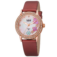 Burgi Womens Red Strap Watch-B-142bur