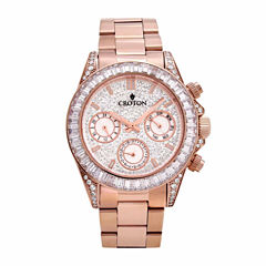 Croton Womens Rose Goldtone Bracelet Watch-Cn307565rgcr