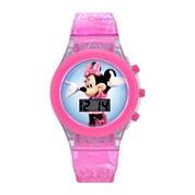 Girls Pink Strap Watch-Mbt3736jc