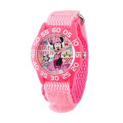 Disney Minnie Mouse Girls Pink Strap Watch-W001663