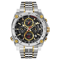 Bulova® Precisionist Mens Two-Tone Stainless Steel Chronograph Watch 98B228