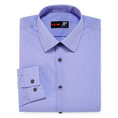 J.Ferrar Easy-Care Solid Slim Fit Long Sleeve Dress Shirt