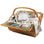 Picnic Time® Barrel Picnic Basket for Two