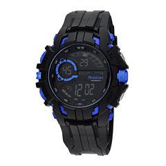 Armitron Mens Black Strap Watch-40/8335blu