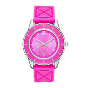 Womens Colorful Quilted Silicone Strap Watch