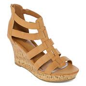 a.n.a Massey Womens Wedge Sandals