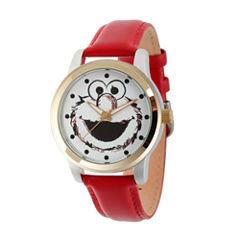 Sesame Street Unisex Red Strap Watch-Wss000022