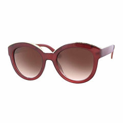 Glance Full Frame Round UV Protection Sunglasses-Womens
