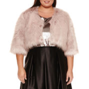 Ashley Nell Tipton for Boutique + Long Sleeve Poncho-Plus