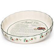 Pfaltzgraff® Winterberry Pie Plate with Recipe