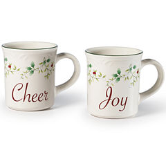 Pfaltzgraff® Winterberry Set of 2 Joy and Cheer Mugs