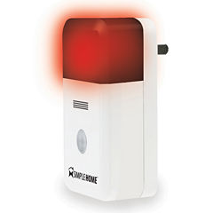 Simple Home XHS7-1002-WHT WiFi Smart Siren Alarm White