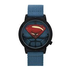 DC Comics® Mens Superman™ Blue Strap Watches