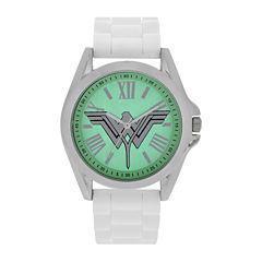 DC Comics® Ladies White Green Strap Watch
