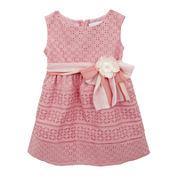 Rare Editions Sleeveless Eyelet A-Line Dress - Toddler Girls 2t-4t
