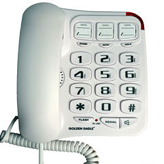 Golden Eagle GEE3104WH Big Button Phone with Speakerphone - White