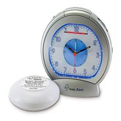 Sonic Alert SA-SBA475SS Sonic Boom Analog Alarm Clock with Super Shaker