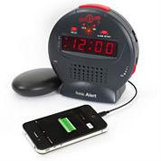 Sonic Alert SA-SBJ525SS Sonic Bomb Jr. Alarm Clock with Super Shaker