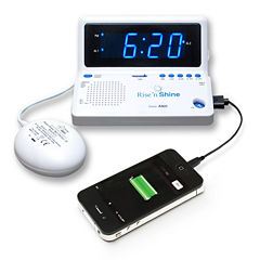 Sonic Alert SA-SBT625SS Rise 'n Shine Dual Alarm Clock with Super Shaker