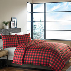 Eddie Bauer Mountain Plaid Scarlet Kg Duvet Sham Set