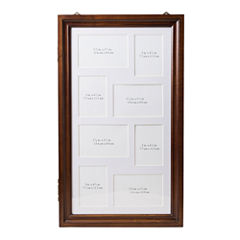 Hives and Honey Walnut-Finish Jewelry Collage Frame