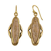 Art Smith by BARSE Genuine Jasper Brass Earrings