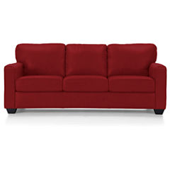 Leather Possibilities Track-Arm Sofa