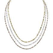 14K Gold Over Sterling Silver Tricolor Valentino Necklace